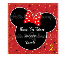Arte Digital Save The Date Minnie