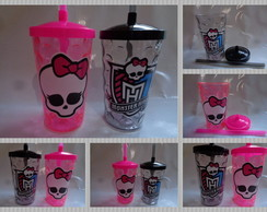 Copo c/ Canudo 500ml Monster High
