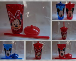 Copo c/ Canudo 500ml Mickey e Minnie