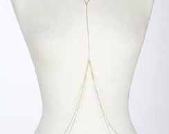 Body chain corrente fina dourado