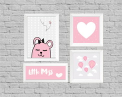Kit quadro infantil little miss