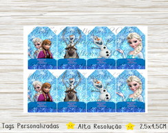 Tags de Agradecimento Frozen Digital