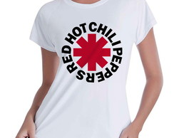 Camiseta Babylook Red Hot Chili Peppers