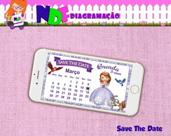 Convite Digital Save the Date Princesinha Sofia