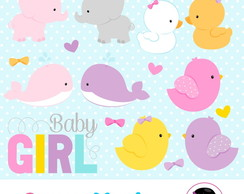 Kit Digital - Baby Animal menina 1