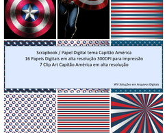 Kit Scrapbook Digital - Capitão América