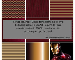 Kit Scrapbook Digital - Homem de Ferro