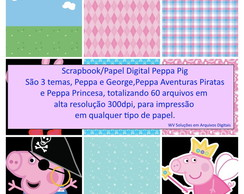 Kit Scrapbook Digital - Peppa Pig