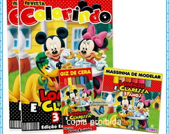 kit colorir com Giz, Massinha Mickey