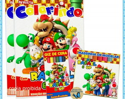 kit colorir Mario Bros com massinha