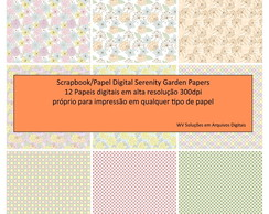 Kit Scrapbook Digital - Serenity Garden