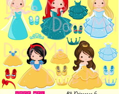 Kit Digital Princesas 6
