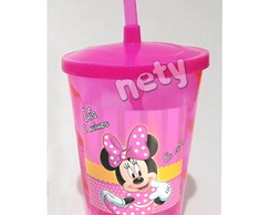 10 Copos Twister Minnie Mouse Rosa Pink