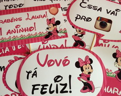 Plaquinhas da Minnie Rosa