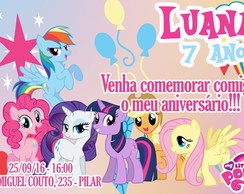CONVITE DIGITAL MY LITTLE PONY