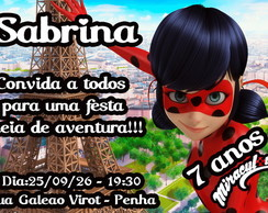 CONVITE DIGITAL MIRACULOUS: AS AVENTURAS DE LADYBUG