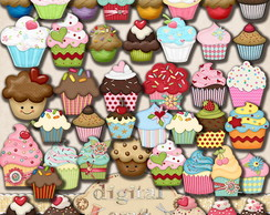 Scrapbook Digital - Cupcake cliparts