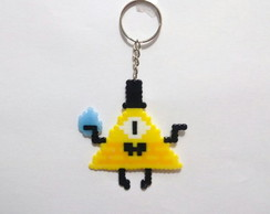 Bill Cipher - chaveiro pixel