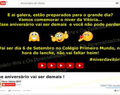 Convite Tema Youtube / Internet