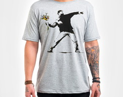 Camisa Masculina Branca Flower Thrower