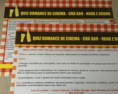 Quiz Romance de Cinema - Chá Bar