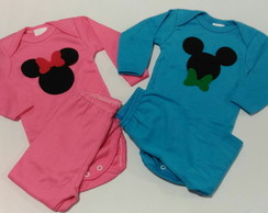 Body Mickey Minnie + Toalha de boca