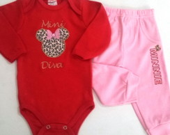 "Conjunto de Body/Calça ""Mini Diva Minnie"