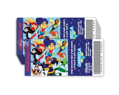 Convite Ingresso Super Hero Girl