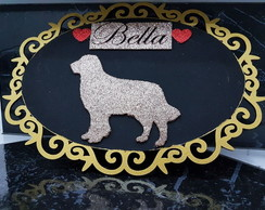 Quadro decorativo I love my dog/cat