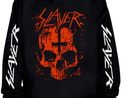 Blusa moletom Slayer - Caveira cruz