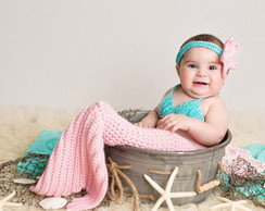 Sereia (do newborn até os 12 meses) - Mermaid Shell