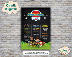 Chalk Digital Patrulha Canina
