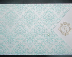 Convite Envelope Arabescos Tiffany