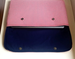 Capa para notebook red and navy
