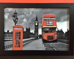 Quadro Decorativo Londres Big Ben QJ24