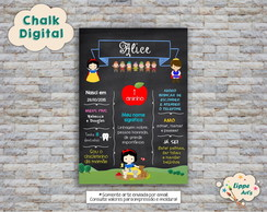 Chalk Digital Branca de Neve