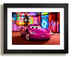 Quadro Cartoon Filme Cine Carros N7 Decorativo Sala Paspatur