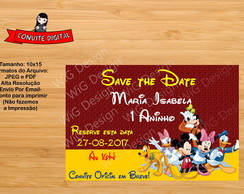 Save the date Digital Infantil Mickey