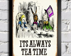 Poster com Moldura Alice Tea Time