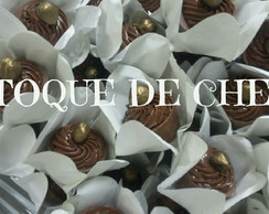 Cachepô de chocolate