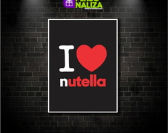 Quadro Decorativo - I love Nutella