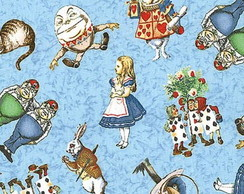 Bolsa - Alice in Wonderland Azul