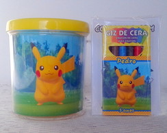 Caneca Pokémon com Kit Colorir