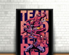 Quadro Daredevil, Deadpool & Spiderman
