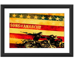 Quadro Sons Anarchy Seriado Poster Arte