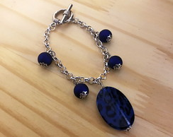 Pulseira Animal Print Blue