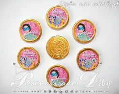 100 moedas de chocolate BARBIE