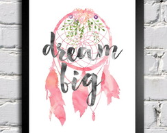 Poster com moldura Dream Big