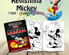 Kit 10 LIVRI/REVISTINHAS COLORIR MICKEY