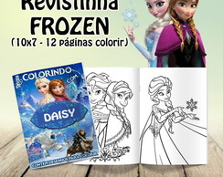 KIT 10 REVISTINHAS COLORIR - FROZEN